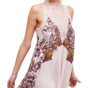 Free People Marsha Lace Slip Dress SZ L